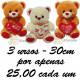 Urso y love you kit com 3
