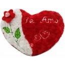 Coração flor vermelho