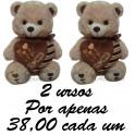 Ursos coração kit com 2
