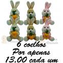 Coelho com cenoura - kit com 6