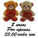 Urso Te Amo kit com 2