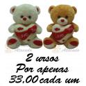 Urso  Love You kit com 2
