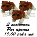 Cachorro bulldog kit com 3