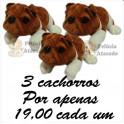 Cachorro bulldog kit com 3