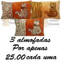 Almofadas felinos kit com 3