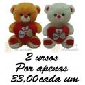 Urso  I Love You kit com 2