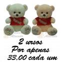 Urso  Love kit com 2