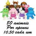 Animais sortidos para grua kit com 80