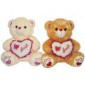 Urso coração amor kit com 2