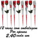 Rosa artificial pétala de sabonete kit com 12 unidades