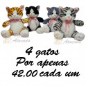 Gatos - kit com 4