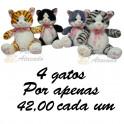 Gatos - kit com 4
