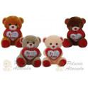 Ursos coração te amo - kit com 4