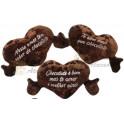 Coração com cheiro de chocolate - kit com 3