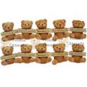 Ursos plaquinhas - kit com  12