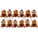 Ursos de natal kit com 12