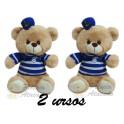 Urso marinheiro - kit com 2