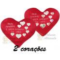 Coração hoje, amanhã e sempre - kit com 2