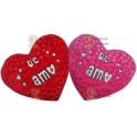 Coração Te amo kit com 2