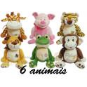 Animais sortidos kit com 6