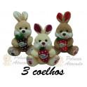 Kit: 3 Coelhos com Cenoura