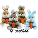 Kit: 4 Coelhos com Cenoura