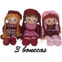 Bonecas kit com 3