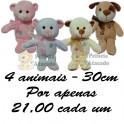 Urso  e cachorro foffy kit com 4