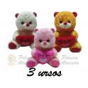 Ursos coração love - kit com 2