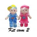 Kit: 2 Bonecas e Bonecos