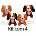 Cachorro sentado kit com 4