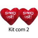 Kit: 10 Corações Vermelho G