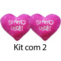 Kit: 10 Corações Rosa G