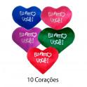 Kit: 10 Corações P Vermelhos