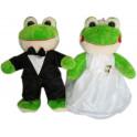Sapo noivo e noiva P kit com 5