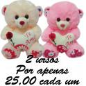 Urso te amo flor kit com 2