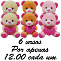 Urso apaixonado kit com 6