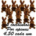 Coelho com laço kit com 12