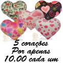 Corações apaixonados - kit com 5