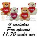 Ursinhos - kit com 4