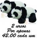 Urso panda kit com 2