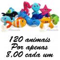 Animais marinhos para grua kit com 120
