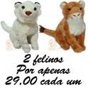 Tigre branco e leão - kit com 2