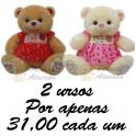 Ursos com vestido - kit com 2