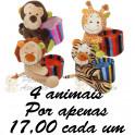Animais porta caneta - kit com 4