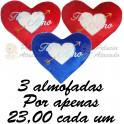 Coração flecha do amor - kit com 3