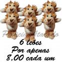 Leão - kit com 6