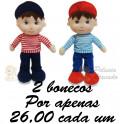 Bonecos - kit com 2