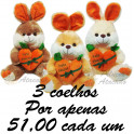 Coelho com cenoura -  kit com 3