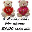 Urso balão apaixonado kit com 2